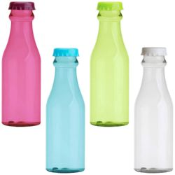 "BOTELLA TRANSPORTABLE POLIETILENO 650ML. (SIN BISFENOL-A) COLORES VARIOS ""LOW COST"""
