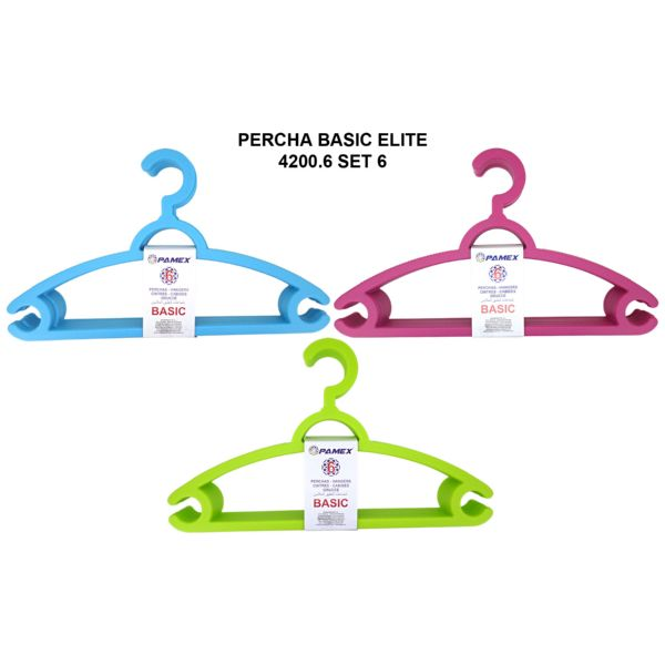 PERCHA BASIC ELITE 4200.6, SET 6 UNIDADES